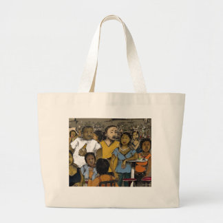 friday nite where's the party? tote bags