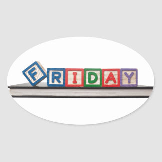 Friday Oval Sticker