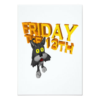 Friday The 13th 5x7 Paper Invitation Card