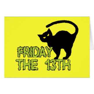 Friday The 13th - Bad Luck Day Superstition Cards