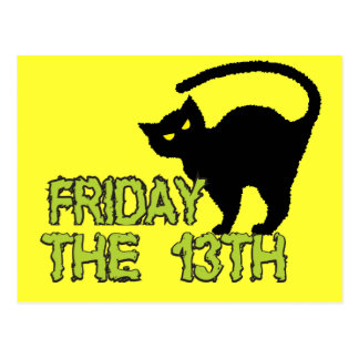 Friday The 13th - Bad Luck Day Superstition Postcard
