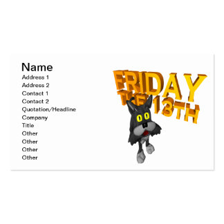 Friday The 13th Business Cards