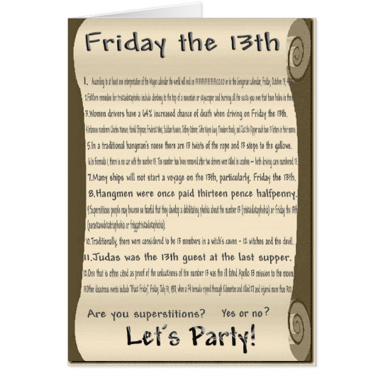 Friday the 13th card