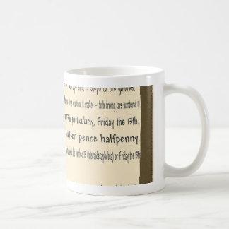 Friday the 13th coffee mug