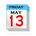 Friday The 13th in May Postcard