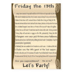 Friday the 13th postcard