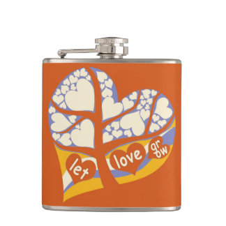 #Fridaynight love tree heart shape flask