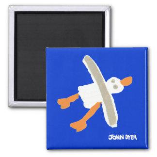 Fridge Art: Seagull Refrigerator Magnet