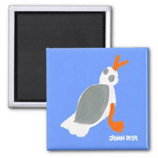 Fridge Art: Seagull Fridge Magnet