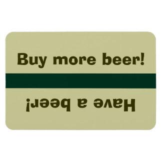 Fridge Beer Status - Have a beer, buy beer Rectangular Magnet