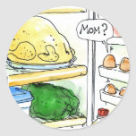 Fridge Chicken Egg Family Funny Stickers