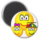 Single mother emoticon   fridge_magents_magnet