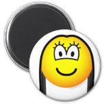 Black haired emoticon   fridge_magents_magnet