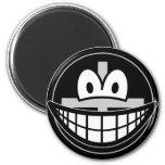 Black widow smile   fridge_magents_magnet
