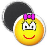 Girl emoticon   fridge_magents_magnet