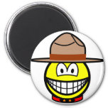 Canadian mountie smile   fridge_magents_magnet