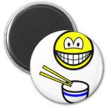 Chop sticks smile Rice bowl  fridge_magents_magnet