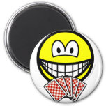 Card playing smile   fridge_magents_magnet
