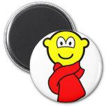 Scarf buddy icon   fridge_magents_magnet