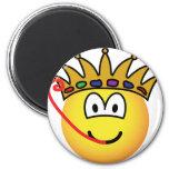 Frog king emoticon   fridge_magents_magnet