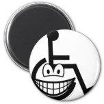 Wheelchair smile Sign  fridge_magents_magnet