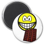 Chocolate eating smile   fridge_magents_magnet