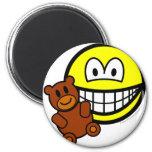 Teddy bear toy smile   fridge_magents_magnet