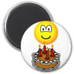 Blowing out candles emoticon   fridge_magents_magnet