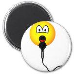 Singing emoticon microphone  fridge_magents_magnet