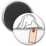 CSI:emoticon crime scene investigation Morgue toe tag fridge_magents_magnet