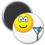 Martini drinking emoticon   fridge_magents_magnet