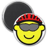 Biker buddy icon glasses  fridge_magents_magnet