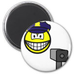 Lazer gun cop smile   fridge_magents_magnet
