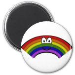 Regenboog emoticon vorm  fridge_magents_magnet