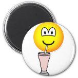 Milkshake emoticon   fridge_magents_magnet