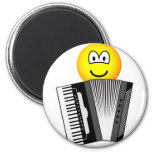 Accordion playing emoticon   fridge_magents_magnet