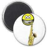 Saxophone smile   fridge_magents_magnet