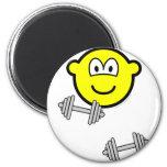 Dumbbells buddy icon Free weight training  fridge_magents_magnet