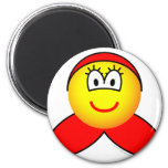 Little red riding hood emoticon   fridge_magents_magnet