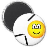 Nunchaku emoticon martial arts  fridge_magents_magnet