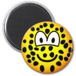 Leopard emoticon   fridge_magents_magnet