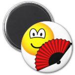 Hand fan emoticon   fridge_magents_magnet