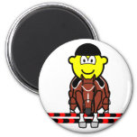 Horse show jumping buddy icon Olympic sport Equestrian fridge_magents_magnet