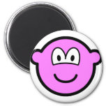 Colored buddy icon pink  fridge_magents_magnet
