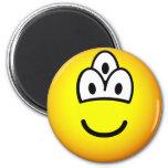 Drieoogige emoticon   fridge_magents_magnet