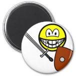 Sword fighting smile   fridge_magents_magnet