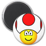Toad emoticon video game  fridge_magents_magnet