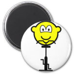 Fitness fiets buddy icon   fridge_magents_magnet