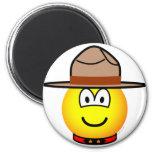 Canadian mountie emoticon   fridge_magents_magnet