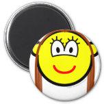 Brunette buddy icon   fridge_magents_magnet